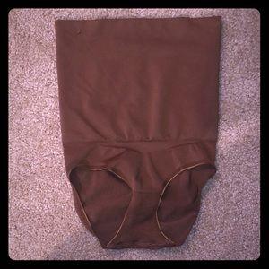 NWOT SPANX Brown Butt Lifting High Waist Shaper S